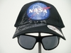 Black NASA Cap W/ Fold Down Glasses