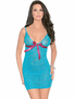 All Eyes On Me Sexy Lace Up Chemise & Thong Set
