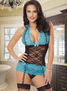 All Yours Sexy Lace Garter Chemise