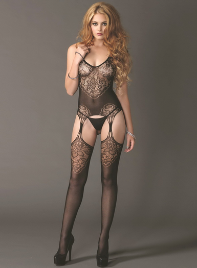 All Yours Sexy Suspender Bodystocking