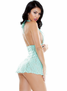 Aqua Adventures Lace Babydoll & Thong Set