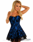 Babe In Blue Sexy Corset Dress