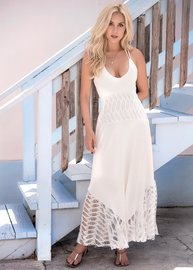 Beach Angel Ivory Maxi Dress