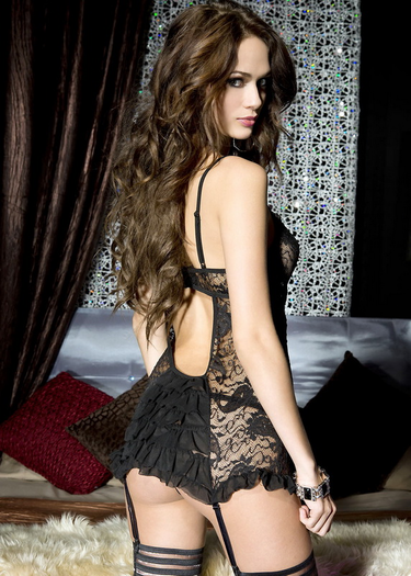 Beautiful Paisley Lace Garter Bustier