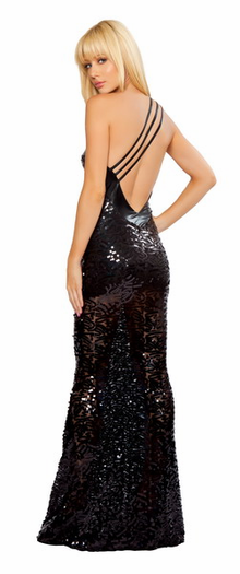 Beauty of the Night Sequin Gown
