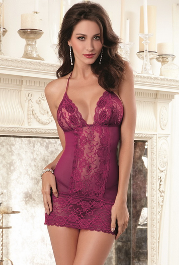 Berry Beautiful Sexy Chemise