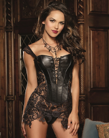 Beyonce Faux Leather Corset