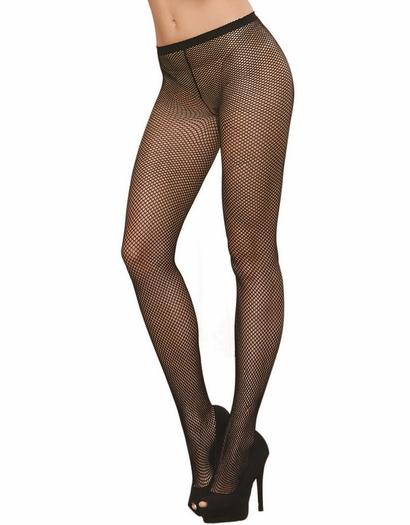 Black Diamond Back Seam Fishnet Pantyhose