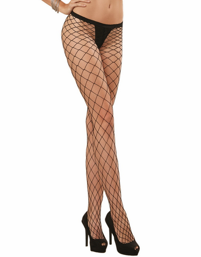 Black Diamond Diamond Fence Pantyhose