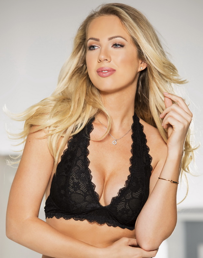 Black Lace Bralette Halter Top