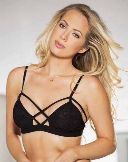 Black Romantic Summer Bralette