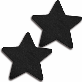 Black Satin Sexy Star Pasties
