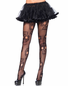 Black Sugar Skull Pantyhose