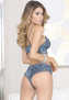 Blue Floral Lace Lovely Bralette & Panty Set