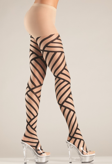 Bondage Pattern Tights