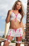Boyfriend Lover Sexy 3 PC Skirt Set