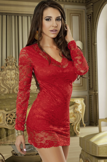 Call Me Tonight Red Mini Dress