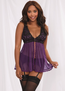 Cater To You Babydoll, Garter Belt, & G-String Set