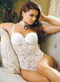 Charming Cupid Sexy Lace Snap Crotch Teddy