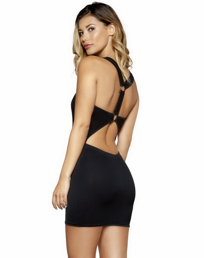 Circular Cupid Little Black Dress