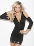 Clubwear Collection V Neck Dress