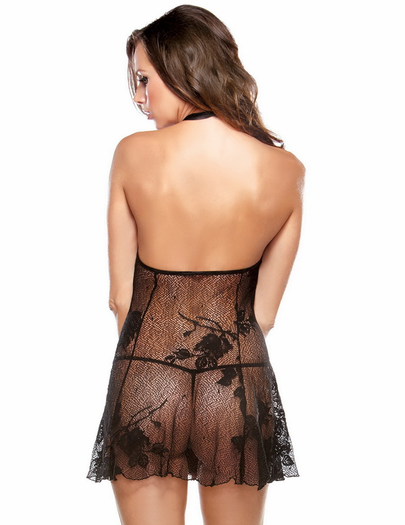 Crazy For You Sexy Lace Chemise & Thong Set