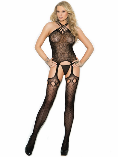 Crazy In Love Lace Bodystocking