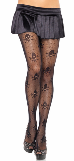 Cross And Bones Pantyhose