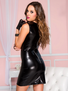 Dark Seduction Wet Look Dress