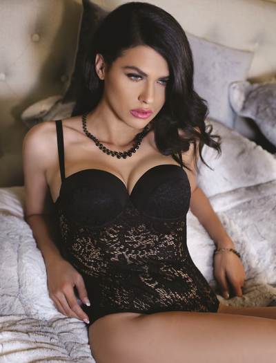Date Night Naughty Lace Snap Crotch Teddy