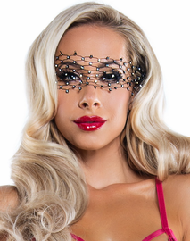Diamond Net Crystal Eye Mask
