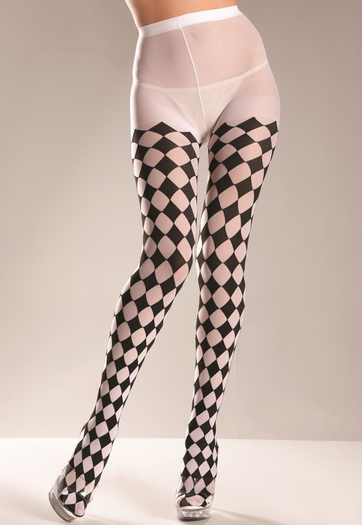 Diamond Patterned Pantyhose