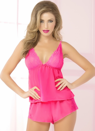 Dreamy Pink Cami Top, Short, & Blindfold Set