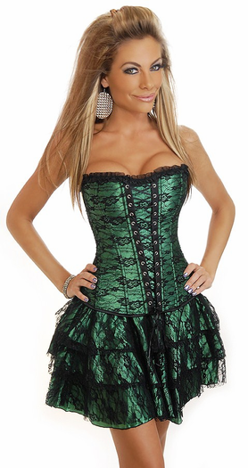 Emerald Sexy Lace Corset Dress