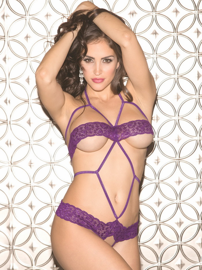 Erotic Play Time Lace Open Bust & Crotchless Teddy