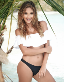 Exotic Flirt Off Shoulder Swim Top & Bottoms Set