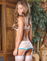 Exposed Love Lace Open Cup Bra & Garter Skirt Set