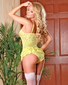 Exposed Summer Sexy Lace Snap Crotch Teddy