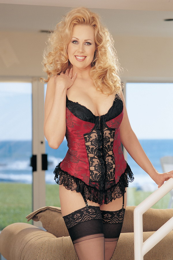 Plus size satin bustier with zipper frontiphone - 4 10