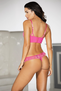 Eye Candy Pink Lace Push Up Bra