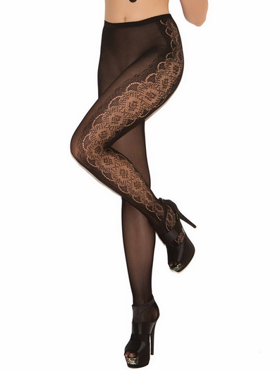 Fancy Floral Pantyhose