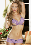 Feel So Sensitive Lace Open Cup Bra & Panty Set