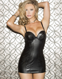 Flirty Dirty Faux Leather Chemise