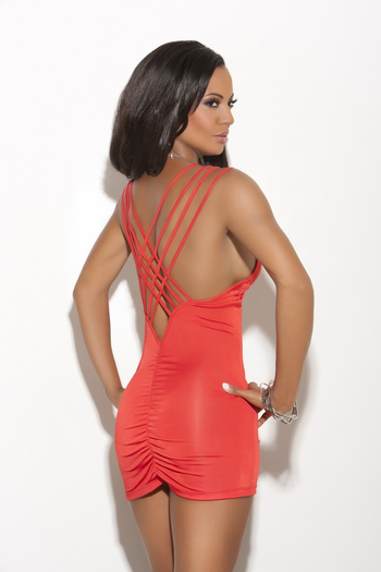 Fuel The Passion Sexy Deep V Dress