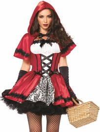 Gothic Red Riding Hood Sexy Costume
