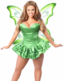 Green Fairy Tink Corset Dress Costume