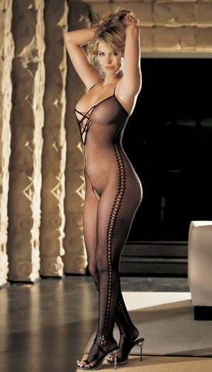H.O.T. Criss-Cross Front Bodystocking