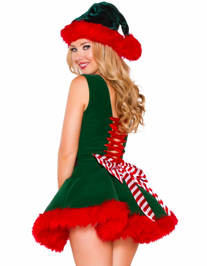 Head Elf Sexy Costume