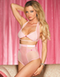 Heart Hottie Retro Sheer Bra & High Waist Panty Set