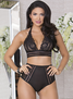 High Class Elegance High Waist Bra Set